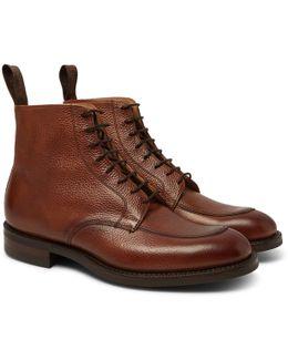 Richmond Pebble-grain Leather Boots