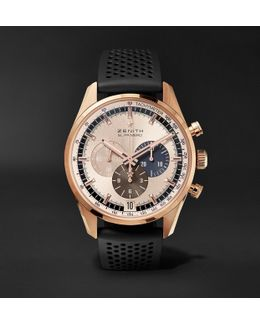 El Primero Chronomaster 1969 42mm Rose Gold And Rubber Watch