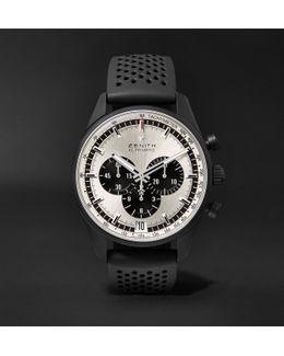 El Primero Chronomaster 1969 42mm Ceramicised Aluminium And Rubber Watch