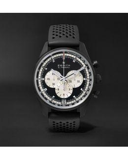 El Primero Chronomaster 45mm Ceramicised Aluminium And Rubber Watch
