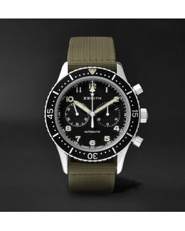 Pilot Chronometro Tipo Cp-2 43mm Stainless Steel And Leather Watch