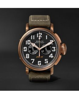 Pilot Type 20 Extra Special Chronograph 45mm Bronze And Nubuck Watch