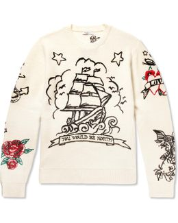 Embroidered Virgin Wool And Cashmere-blend Sweater