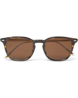 Heaton D-frame Two-tone Tortoiseshell Acetate Sunglasses