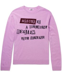 Intarsia Virgin Wool And Cashmere-blend Sweater