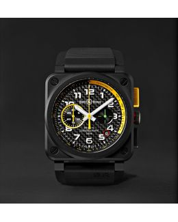 Br 03-94 Rs17 42mm Ceramic And Rubber Chronograph Watch