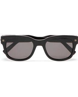 Square-frame Acetate Sunglasses