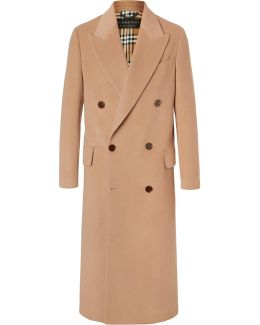 Double-breasted Felted Camel Hair Coat