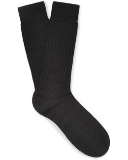 Pembrey Sea Island Cotton-blend Socks