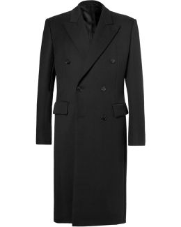 Double-breasted Virgin Wool Cavalry Twill Coat