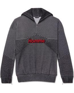 High-neck Wool-blend Sweater