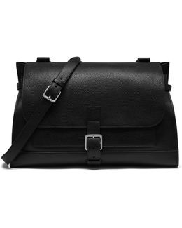 Buckle Leather Satchel
