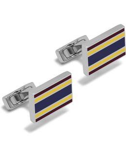 Rectangular College Stripe Cufflinks
