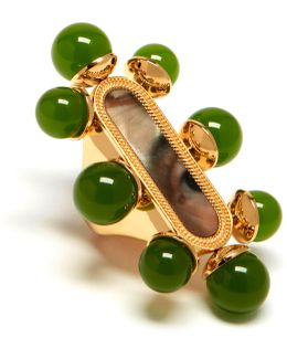 Beads Oval Ring