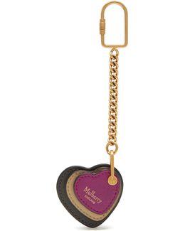 Heart Leather Keyring
