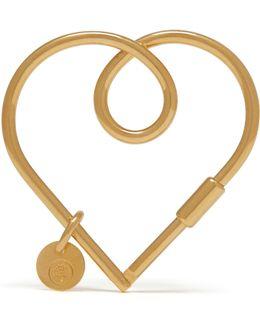 Large Looped Heart Keyring