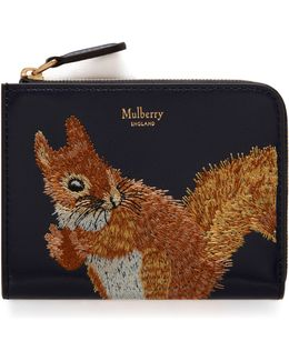 Squirrel Part Zip Coin Pouch