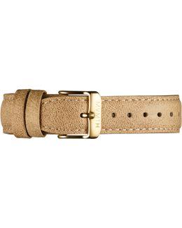 Womens - 18mm Beige Leather