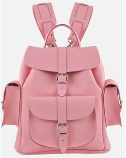 Pink Lemonade Medium Leather Rucksack