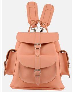 Peaches & Cream Medium Leather Rucksack