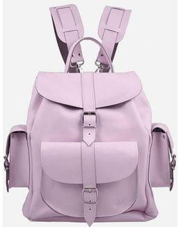 Lavender Medium Leather Rucksack