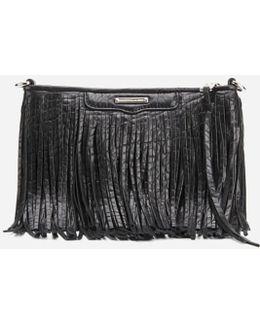 Finn Fringe Leather Clutch Bag
