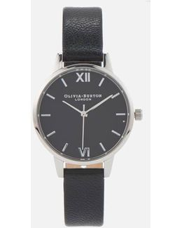 Women's Midi Watch Black Dial & Silver