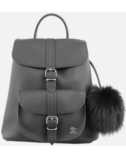 Women's Fluffy Fur Pom Backpack