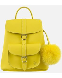 Women's Sunny Fur Pom Backpack