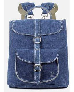 Denim Small Backpack