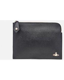 Opio Saffiano Small Clutch Bag