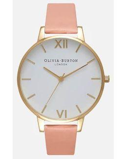 White Big Dial Watch