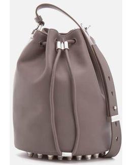 Alpha Soft Leather Bucket Bag