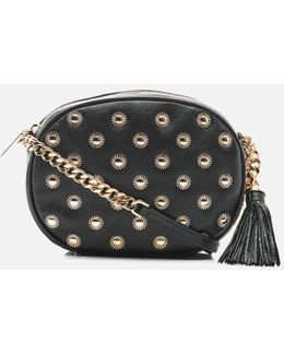 Ginny Studded Mid Messenger Bag