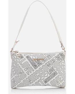 Love Printed Shoulder Clutch Bag