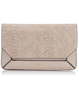 Ellio Reptile Reversible Fold Over Clutch Bag