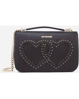 Women's Heart Whipstitch Shoulder Bag