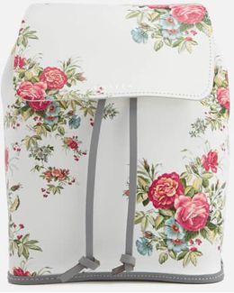 Fey Blossom Leather Rucksack