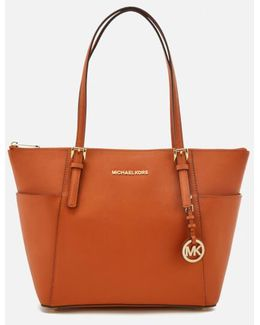 Jet Set East West Top Zip Tote Bag