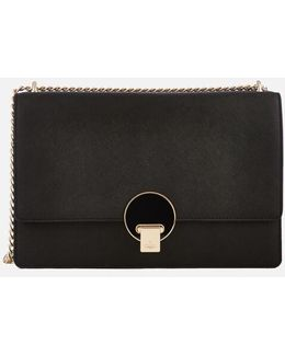Opio Saffiano Large Bag With Flap