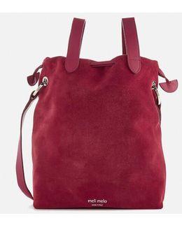 Hazel Suede Drawstring Bag