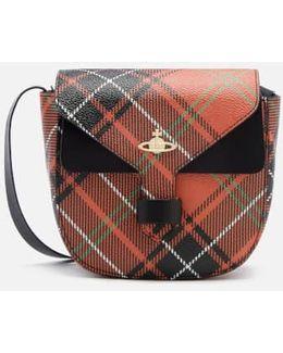 Women's Edinburgh Check Print Small Cross Body Bag