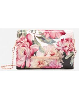 Paige Painted Posie Cross Body Bag
