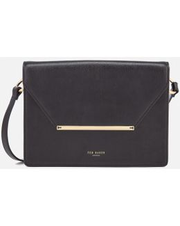 Magsie Bar Detail Foldover Cross Body Bag