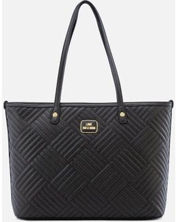 Shiny Quilted Tote Bag