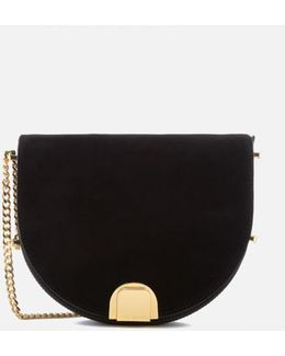 Flossi Suede Detail Moon Bag