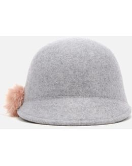 Adabel Faux Fur Pom Pom Felt Hat