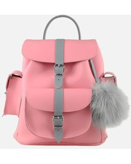 Peony Leather Backpack