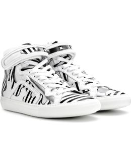 Mytheresa. Com Exclusive Printed Leather High-top Sneakers
