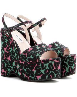 Jacquard Wedge Sandals